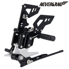 Black CNC Adjustable Rearsets Footpegs For Suzuki GSX-R 600 GSXR750 06-10 09 08