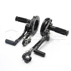 Black Adjustable Rear Set Foot Pegs Rearset For Yamaha VMAX 1700 09-16 2010 2011