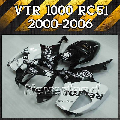 Fairing For Honda VTR1000 SP1 SP2 RVT1000R RC51 2000-2006 2004 2005 Bodywork ABS