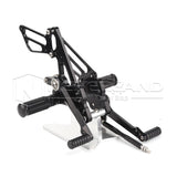 Rear Set Footpegs Pedals Rearset Black Adjustable Fit SUZUKI GSX-R1000 2007 2008