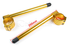 Universal 37 mm Clip On CNC Adjustable Handle bar Handlebars Cafe Racer Gold