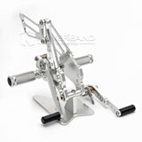 Rear Set Foot Pegs Rearset Silver For SUZUKI GSX-R600/750 2011-2016 12 13 14 15