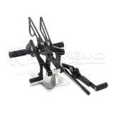 Adjustable Rearset Footpegs Foot Pedals Rear Set For Yamaha YZF-R6 06-16 Black