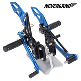 Blue CNC Adjustable Footpegs For Suzuki GSX-R 600 GSXR750 06-10 09 08 Rearsets