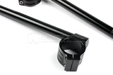 7/8'' CNC 51mm Motorcycle Clip On Handle Bar Handlebars for APRILIA Mille R/RSVR