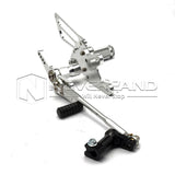 For Honda CBR1000RR ABS Silver Rearset Foot Pegs Rear Set Footrests 09-15 10 11