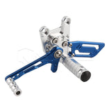 Rearset Rear Footpeg for Suzuki GSXR600/1000 00-04 GSXR750 SV650/S Silver Blue
