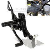 Adjustable Rearset Footpegs Footrest Racing for Ducati Monster 696 2010-2014 13