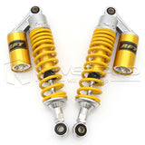 "2pcs 12.5"" 320mm Motor Rear Shock Absorbers Air Suspension For Suzuki BMW Yellow"