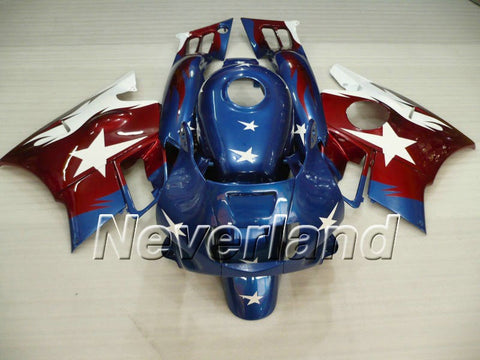 Honda CBR600 F2 1991-1994 ABS Fairing - Blue/White/Red