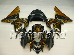 KAWASAKI NINJA ZX10R 2003-2005 ABS Fairing - Golden Flame
