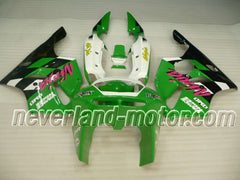 Kawasaki NINJA ZX6R 1994-1997 ABS Fairing - Green/Black/White