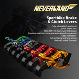 CNC Short Adjustable Brake Clutch lever for YAMAHA YZF 600R/1000R/R1/R6 All  Series - neverland-motor