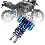 "2X 400mm 15.75"" Motocross Shock Absorber Air Suspension For Yamaha YFZ 450 Blue"