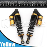 "1pair 13.5"" 340mm Rear Shock Absorber Gas Suspension For Triumph BMW Harley Gold"