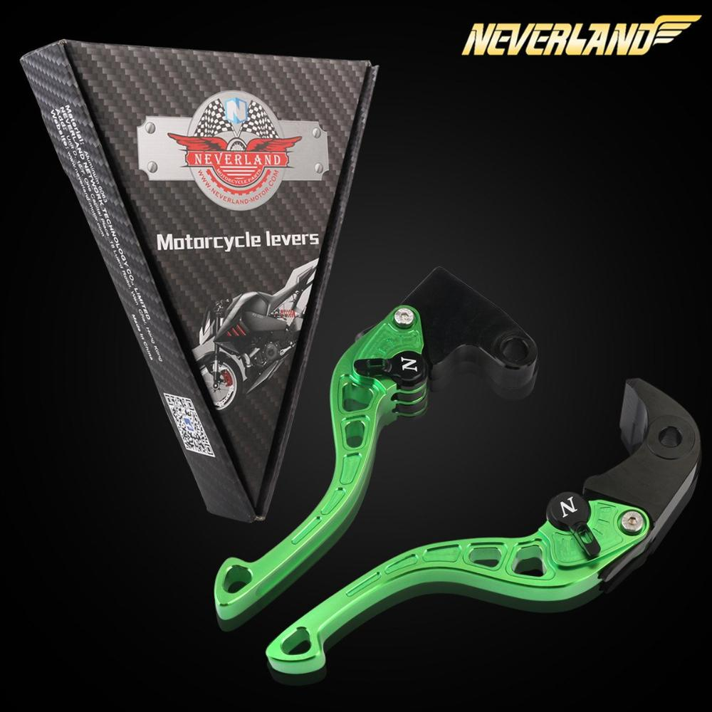 CNC Short Adjustable Brake Clutch lever for KAWASAKI NINJA EX250/ZX6R/7R/10R/12R/14R Series