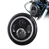 "7"" Projector Daymaker Angel Halo Eye LED Headlight For Harley Touring Road Glide"