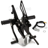 CNC Rearset Rear Set Footpegs Footrest Racing for Kawasaki Ninja ZX10R 2006-2007