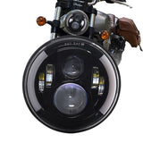 "7"" Projector Daymaker DRL HID Angel Eye LED Headlight For Harley 1200 Universal"