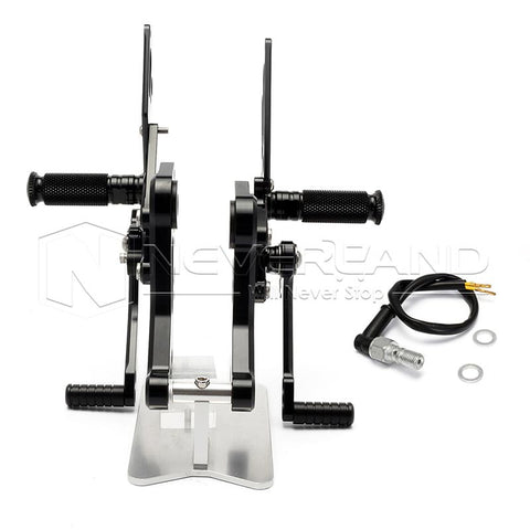 Adjustable CNC Racing Foot Pegs Pedals Rearset Rear Set For DUCATI Monster 796