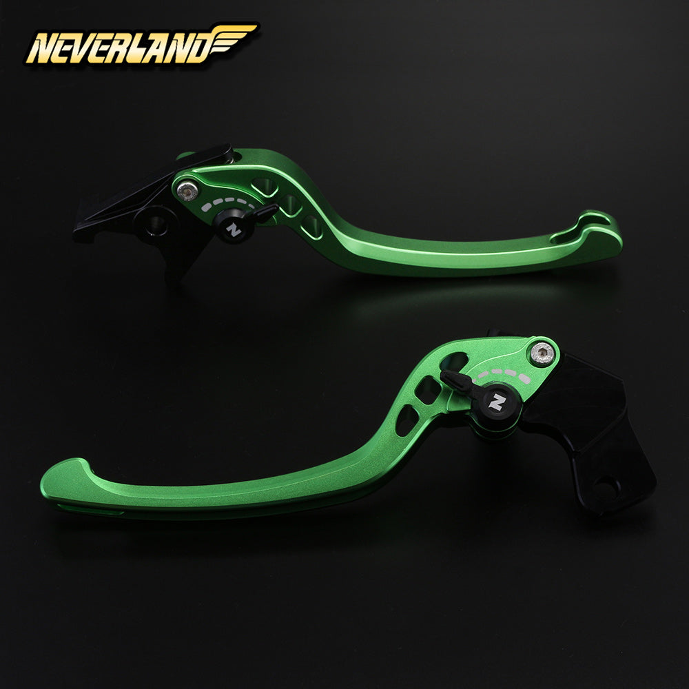 CNC Long Adjustable Brake Clutch Matte levers for KAWASAKI - neverland-motor