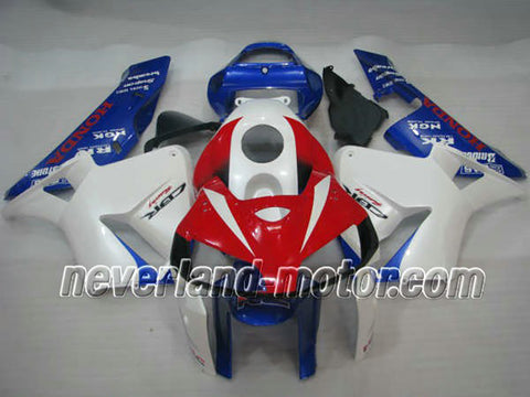 Honda CBR 600RR F5 2005-2006 ABS Fairing - White/Red/Blue