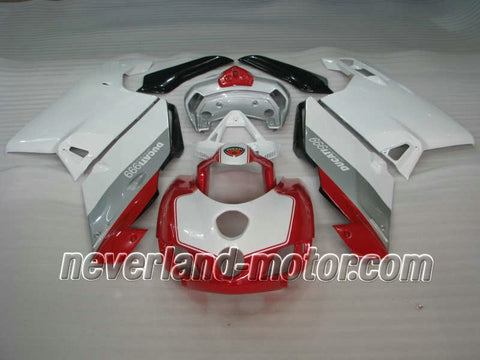 Ducati 749 / 999 2005-2006 ABS Fairing - White/Silver/Red
