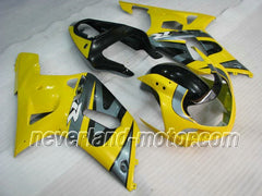 SUZUKI GSX-R 600/750 2001-2003 K1,K2 ABS Fairing - Yellow/Gray