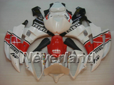 Fairing Bodywork Injection Kit For 2006 2007 Yamaha YZF 600 R6 YZFR6 Red&White