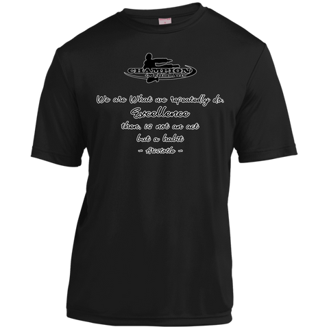 Short Sleeve Moisture-Wicking Shirt - BB We are what we repeatedly do