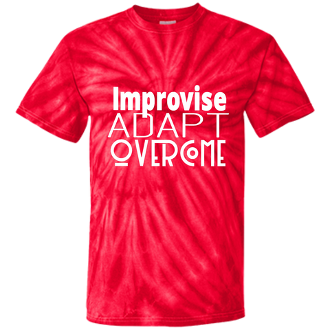 Youth Tie Dye T-shirt - Improvise adapt overcome