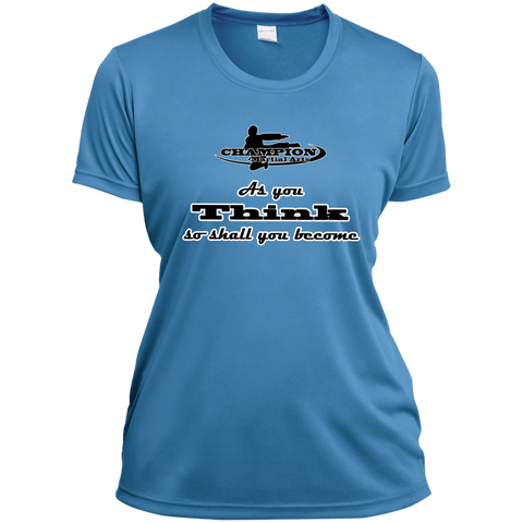 Ladies Short Sleeve Moisture-Wicking Shirt - As you think...