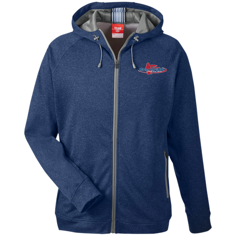 Team 365 Men's Heathered Performance Hooded Jacket - Champion Logo Embroidered