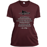 Ladies Short Sleeve Moisture-Wicking Shirt - Attitude determines how well you do it