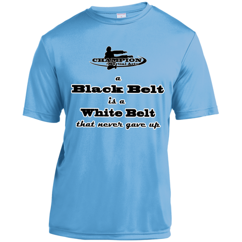 Short Sleeve Moisture-Wicking Shirt - A black belt is a white belt...