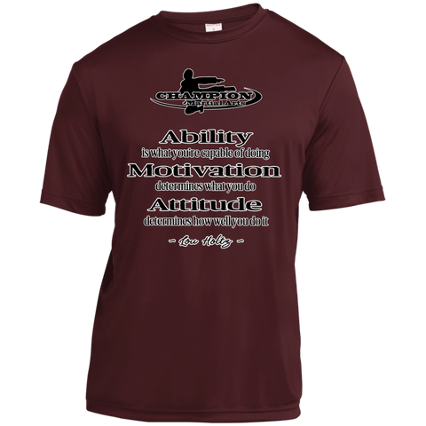 Youth Moisture-Wicking Shirt - Attitude determines how well you do it