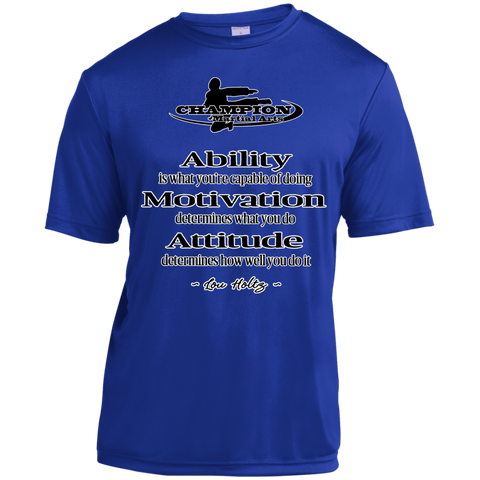 Short Sleeve Moisture-Wicking Shirt - Attitude determines how well you do it
