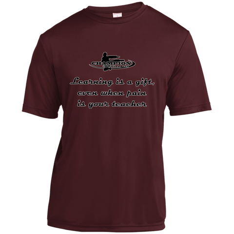 Youth Moisture-Wicking Shirt - Learning is a gift