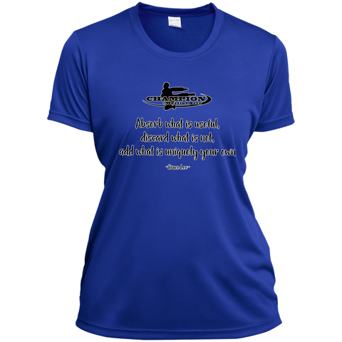 Ladies Short Sleeve Moisture-Wicking Shirt - Absorb what is useful
