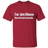 Youth Cotton Graphic Tee - I'm into fitness. Fitness whole pizza in my mouth