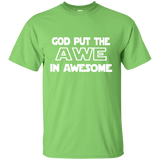 Youth Cotton Graphic Tee - God put the awe in awesome