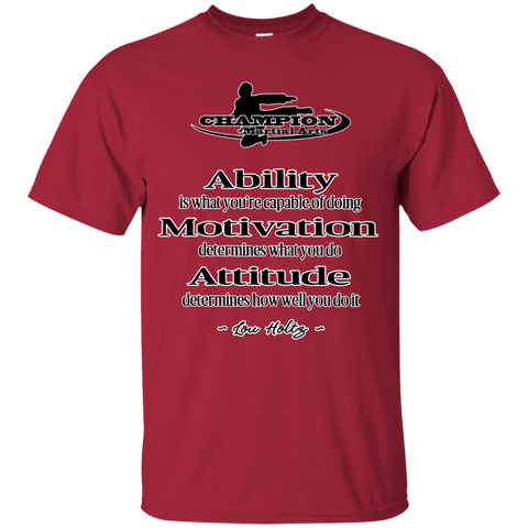 Youth Custom Ultra Cotton Tee - Attitude determines how well you do it