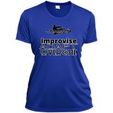 Ladies Short Sleeve Moisture-Wicking Shirt - Improvise, adapt, overcome