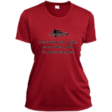 Ladies Short Sleeve Moisture-Wicking Shirt - Learning is a gift