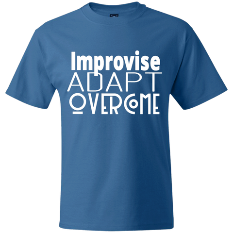 Hanes Beefy Graphic Tee - Improvise, adapt, overcome
