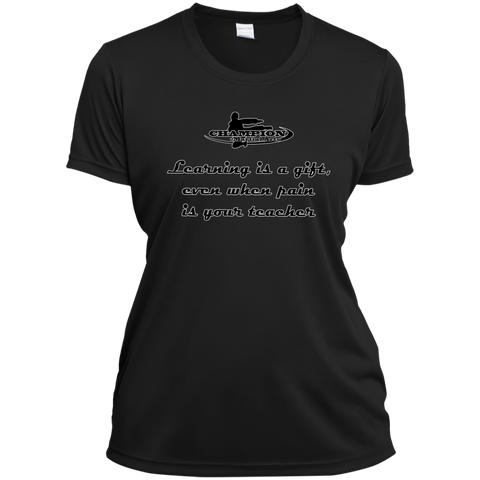 Ladies Short Sleeve Moisture-Wicking Shirt - BB Learning is a gift