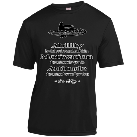 Short Sleeve Moisture-Wicking Shirt - BB Attitude determines how well you do it.