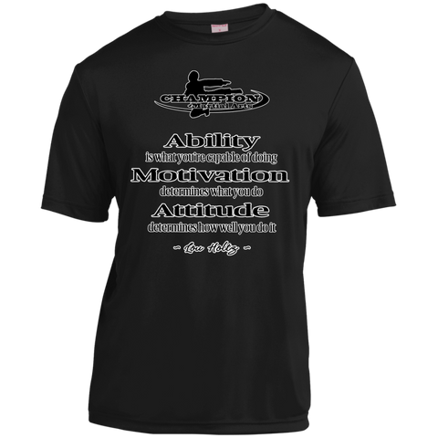 Youth Moisture-Wicking Shirt - BB Attitude determines how well you do it.