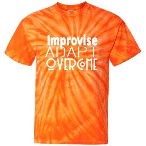 Customized 100% Cotton Tie Dye T-Shirt - Improvise adapt overcome