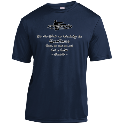 Youth Moisture-Wicking Shirt - We are what we repeatedly do